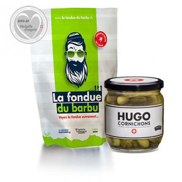 Fondue du Barbu + Cornichons Hugo
